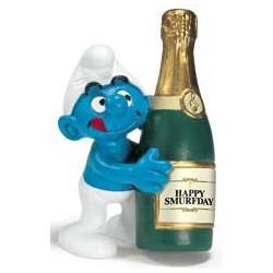 Puffo con Bottiglia