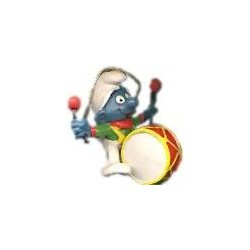 5.1908-Puffo con tamburo