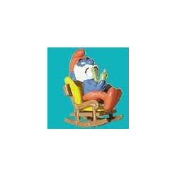 4.0228/1-Grande Puffo con sedia a dondolo