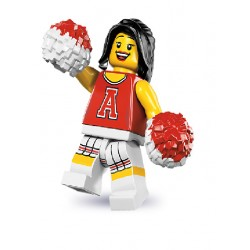 Lego Minifigures Serie 8 Cheerleader Rossa