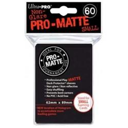 ULTRA PRO Proteggi carte mini pacchetto da 60 bustine 62mm x 89mm Pro-Matte Non-Glare Black