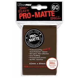 ULTRA PRO Proteggi carte mini pacchetto da 60 bustine 62mm x 89mm Pro-Matte Non-Glare Brown