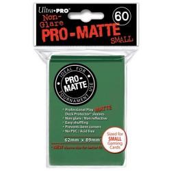 ULTRA PRO Proteggi carte mini pacchetto da 60 bustine 62mm x 89mm Pro-Matte Non-Glare Green