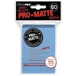 ULTRA PRO Proteggi carte mini pacchetto da 60 bustine 62mm x 89mm Pro-Matte Non-Glare Light Blue