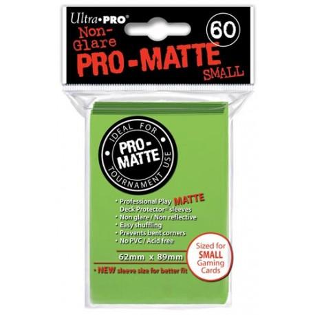 ULTRA PRO Proteggi carte mini pacchetto da 60 bustine 62mm x 89mm Pro-Matte Non-Glare Lime Green