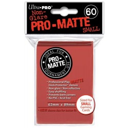 ULTRA PRO Proteggi carte mini pacchetto da 60 bustine 62mm x 89mm Pro-Matte Non-Glare Red