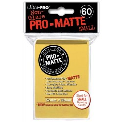 ULTRA PRO Proteggi carte mini pacchetto da 60 bustine 62mm x 89mm Pro-Matte Non-Glare Yellow