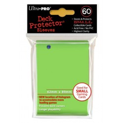 ULTRA PRO Proteggi carte mini pacchetto da 60 bustine 62mm x 89mm Verde Acido