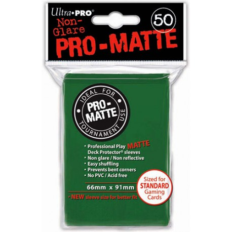ULTRA PRO Proteggi carte standard pacchetto da 50 bustine Pro-Matte Non-Glare Green