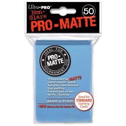 ULTRA PRO Proteggi carte standard pacchetto da 50 bustine Pro-Matte Non-Glare Light Blue