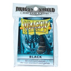 DRAGON SHIELD Proteggi carte mini pacchetto da 50 bustine Black