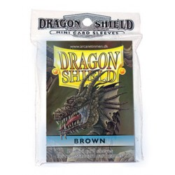 DRAGON SHIELD Proteggi carte mini pacchetto da 50 bustine Brown