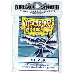 DRAGON SHIELD Proteggi carte mini pacchetto da 50 bustine Silver