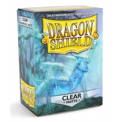 DRAGON SHIELD Proteggi carte standard pacchetto da 100 bustine Matte Clear