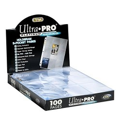ULTRA PRO Platinum Series Box da 100 pagine con 11 fori, 9 tasche per album grande ad anelli 0/10
