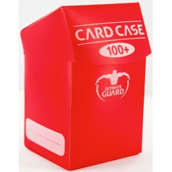ULTIMATE GUARD Porta mazzo verticale per 100 carte standard imbustate Card Case 100+ Red