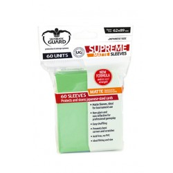 ULTIMATE GUARD Proteggi carte mini pacchetto da 60 bustine Japanese Size Matte Light Green