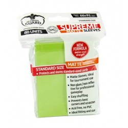 ULTIMATE GUARD Proteggi carte standard pacchetto da 80 bustine Matte Light Green