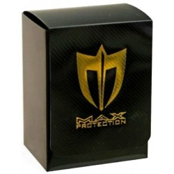 MAX PROTECTION Porta mazzo verticale Vertical Black + Lightning Gold Logo