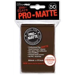 ULTRA PRO Proteggi carte standard pacchetto da 50 bustine Pro-Matte Non-Glare Brown