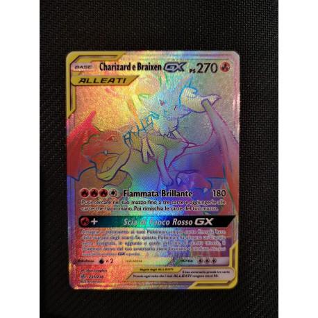 Pokemon Eclissi Cosmica CHARIZARD e BRAIXEN  GX  251/ 236