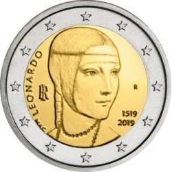 Italia 2019 - 2€ 500º anniversario della morte di Leonardo da Vinci