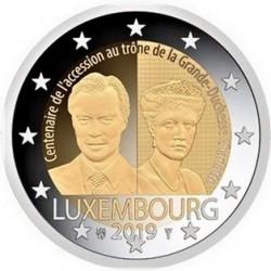Lussemburgo 2019 - 2€ 100º Anniversario dell'Ascesa al Trono e del Matrimonio della Granduchessa Car