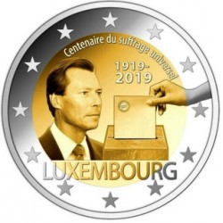 Lussemburgo 2019 - 2€ 100º Anniversario del Suffragio Universale in Lussemburgo