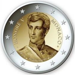Monaco 2019 - 2€ 200º anniversario dell'ascesa al trono di Honoré V