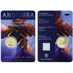 Andorra 2018 - 2€ 25º anniversario della Costituzione di Andorra