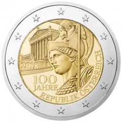 Austria 2018 - 2€ 100º Anniversario della Repubblica d'Austria