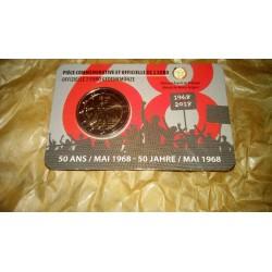 Belgio 2018 - 2€ 50º Anniversario della Rivolta Studentesca del Maggio 1968 - Lato Francese