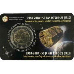 Belgio 2018 - 2€ 50º Anniversario del Lancio del Satellite ESRO-2B - Lato Francese