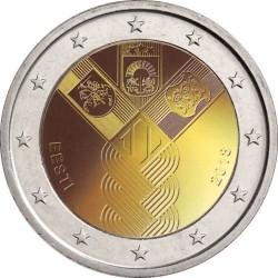 Estonia 2018 - 2€ 100º anniversario della fondazione degli stati baltici indipendenti