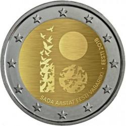 Estonia 2018 - 2€ 100º anniversario della Repubblica d'Estonia