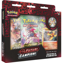 Pokemon Spada e Scudo 3.5 Futuri Campioni Collezione con Spilla Palestra di Steamington (IT)