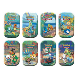 Pokemon Gran Festa Mini Tin da Collezione Starter: Kanto, Johto, Hoenn, Sinnoh, Unima, Kalos, Alola e Galar (IT)